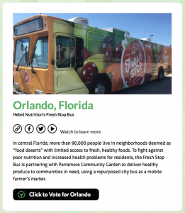 Vote for Team Fresh Stop!